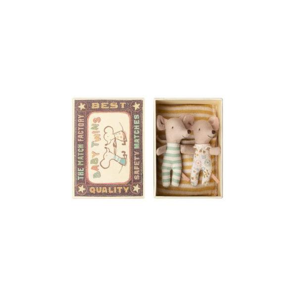Mellizos – Baby – Caja de cerillas – Maileg – ratones – juguetes tradicionales – Liderlamp