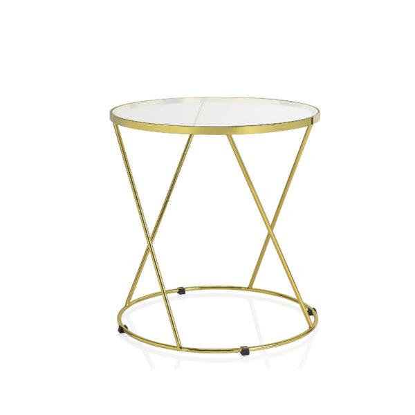 Mesita Domini – metal y cristal – Golden Age – Andreas House – Liderlamp