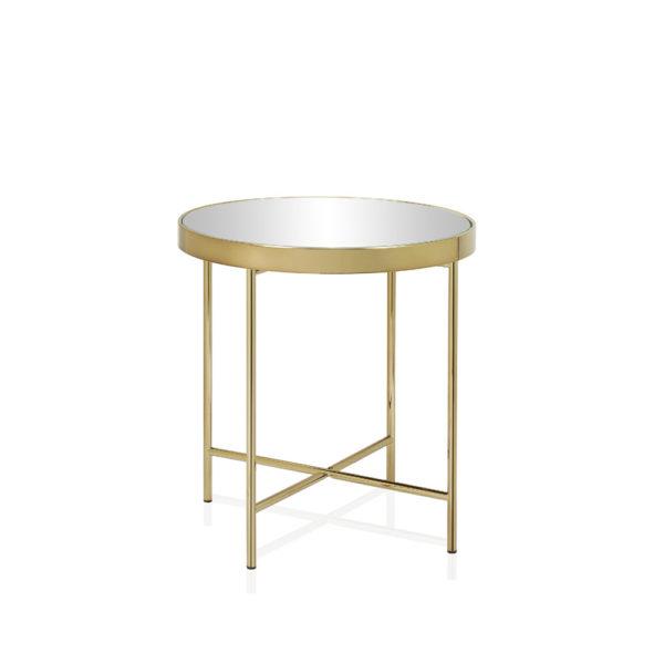 Mesita Guiza – metal y cristal – Golden Age – Andreas House – Liderlamp