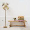 Pie de salon Sabal – lampara de suelo palmera – metal dorado – Gajisa – Liderlamp