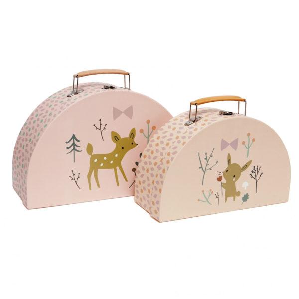 Set de 2 maletines – Deer – Petit Monkey – almacenaje pequeno – Liderlamp (1)