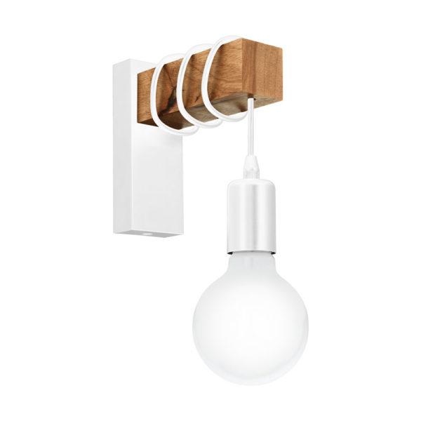 Aplique Morgana – madera – cable negro – bombilla colgante – EGLO – Liderlamp