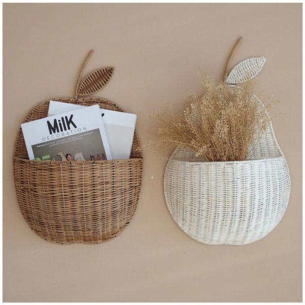Cesta Manzana – Mikaniu – color natural – almacenaje ninos – revistero – Liderlamp (2)
