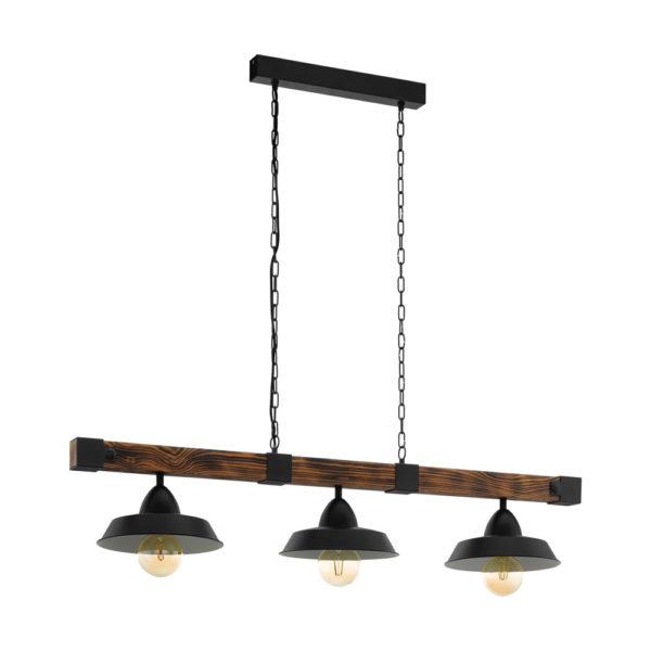 Colgante Cesana - madera y metal - estilo retro - lampara de techo - EGLO - Liderlamp