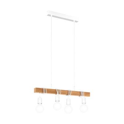 Colgante Morgan - madera - bombillas - cable negro - Eglo - Liderlamp