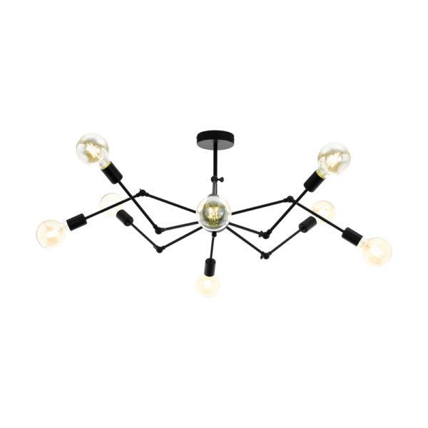 Lampara Beast – 8 brazos articulados – metal negro – arana – EGLO – Liderlamp