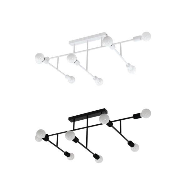 Lampara Marianne – 8 luces – Blanco y negro – Eglo – Metal – Liderlamp (2)