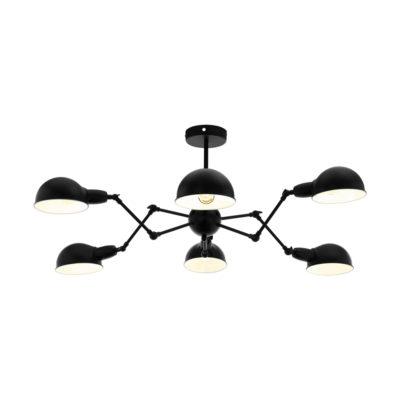 Lampara Velo - 8 brazos articulados - metal negro - arana - EGLO - Liderlamp