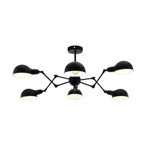 Lampara Velo – 8 brazos articulados – metal negro – arana – EGLO – Liderlamp