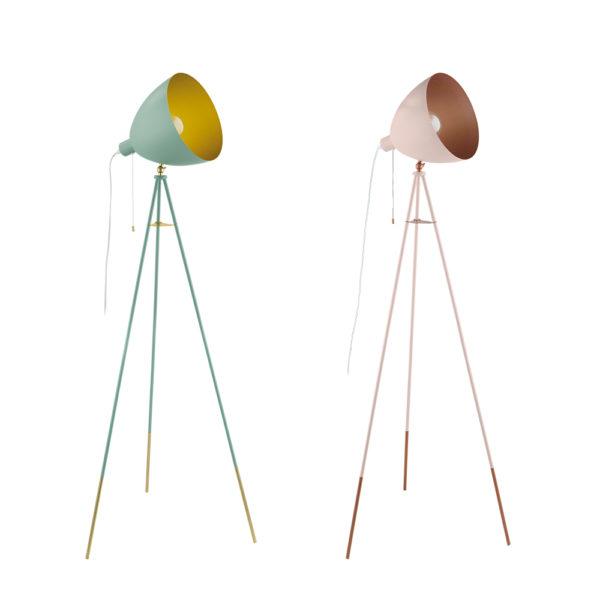 Pie de salon Rows - flexo - lampara de mesa - metal - dorado - EGLO - Liderlamp (1)