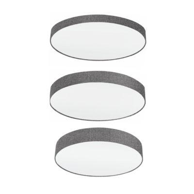 Plafon Lambrate - 3 tamanos - forrado textil - luz cenital - EGLO - Liderlamp (1)
