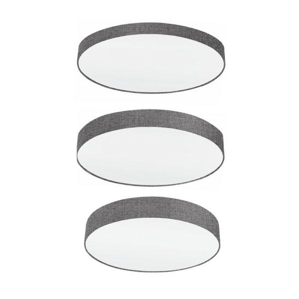 Plafon Lambrate – 3 tamanos – forrado textil – luz cenital – EGLO – Liderlamp (1)