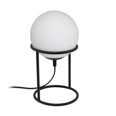 Sobremesa Bela - Esfera blanca - base de metal negra - Eglo - Liderlamp