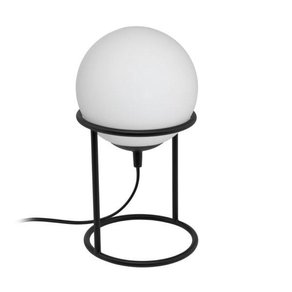 Sobremesa Bela – Esfera blanca – base de metal negra – Eglo – Liderlamp