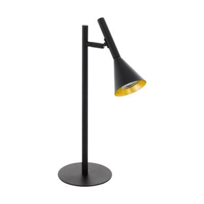 Sobremesa Hooke - Iluminacion de escritorio - Eglo - Metal negro - Liderlamo