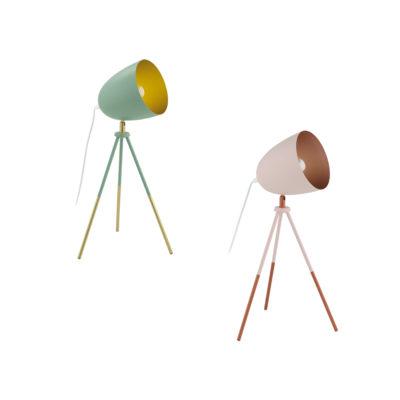 Sobremesa Rows - flexo - lampara de mesa - metal - dorado - EGLO - Liderlamp (1)
