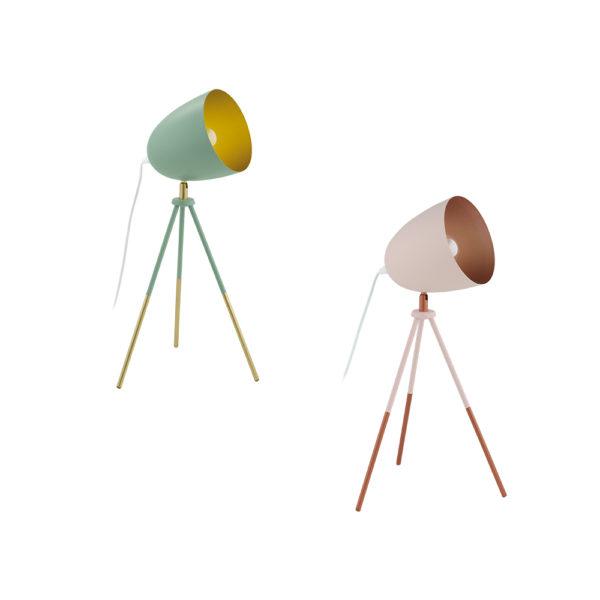 Sobremesa Rows – flexo – lampara de mesa – metal – dorado – EGLO – Liderlamp (1)