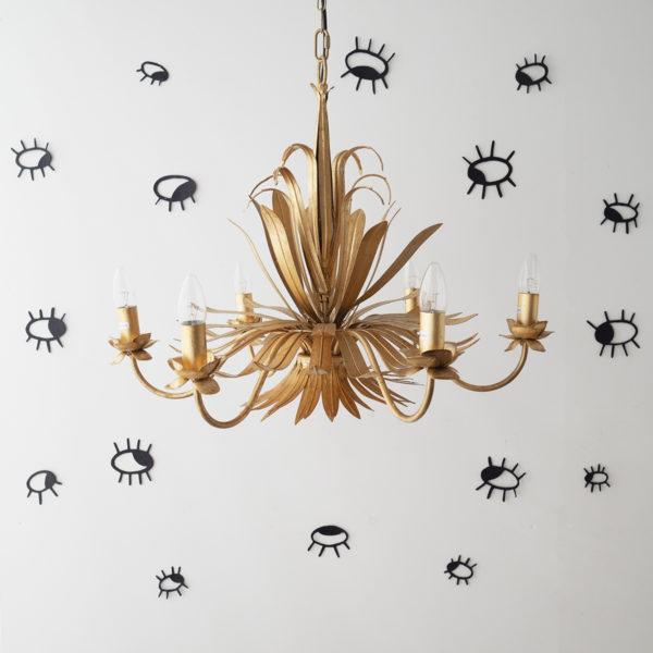 Colgante Cinta – Lampara de techo dorada – botanica – Gasija – Liderlamp (1)