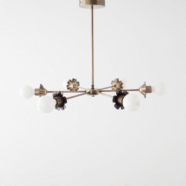 Colgante Sepalo – lampara colgante – oro envejecido – Arano – Liderlamp