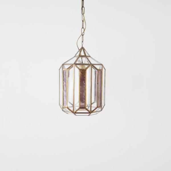 Colgante Zem – Estilo marroqui – cristal y acero – cristal vidriera – Liderlamp (2)