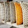 Funda de cojin flores mostaza – madam slotz – decoracion textil – Liderlamp (1)