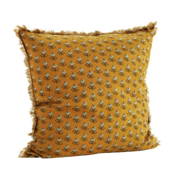 Funda de cojin flores mostaza – madam slotz – decoracion textil – Liderlamp (2)
