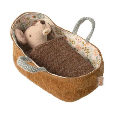 Ratoncito en capazo - Maileg - decoracion infantil - juguetes tradicionales - Liderlamp (1)