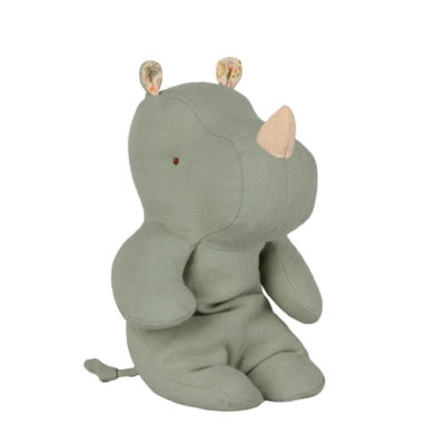 Safary Friends - Pequeno Rino - Verde - Maileg - Deco infantil - Liderlamp