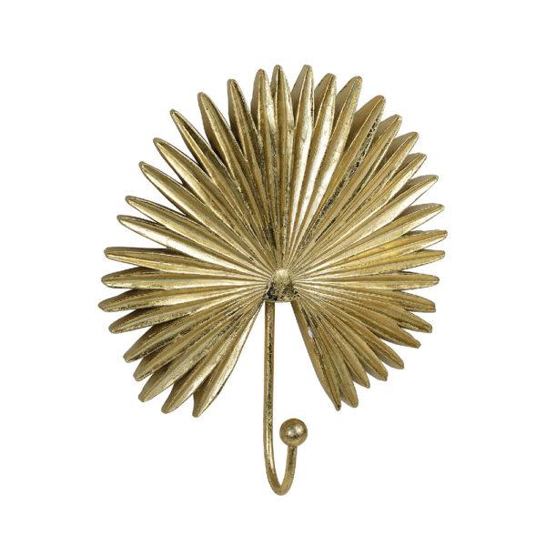 Colgador Palmera – perchero de pared – Andrea House – dorado – Liderlamp