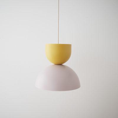 Colgante Due - mostaza, rosa y dorado - Aromas del campo - Liderlamp