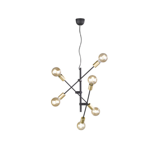 Colgante Spits - lampara suspendida - 6 luces - asimetria - Trio - Liderlamp (2)