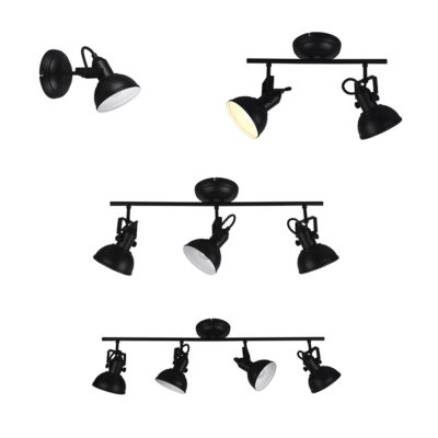 Corgi - focos para techo o pared - trio iluminacion - color negro - Liderlamp (2)