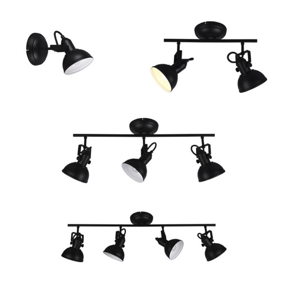 Corgi - focos para techo o pared - trio iluminacion - color negro - Liderlamp (2)