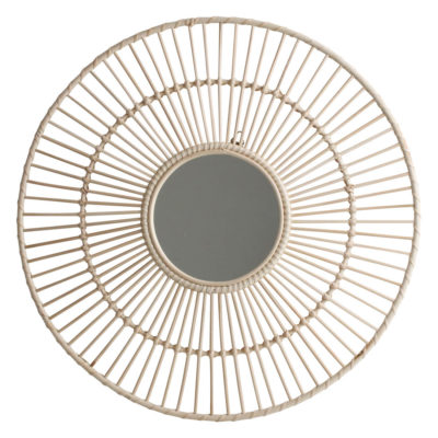 Espejo Luna - ratan - circular - one world interior - decoracion pared - Liderlamp