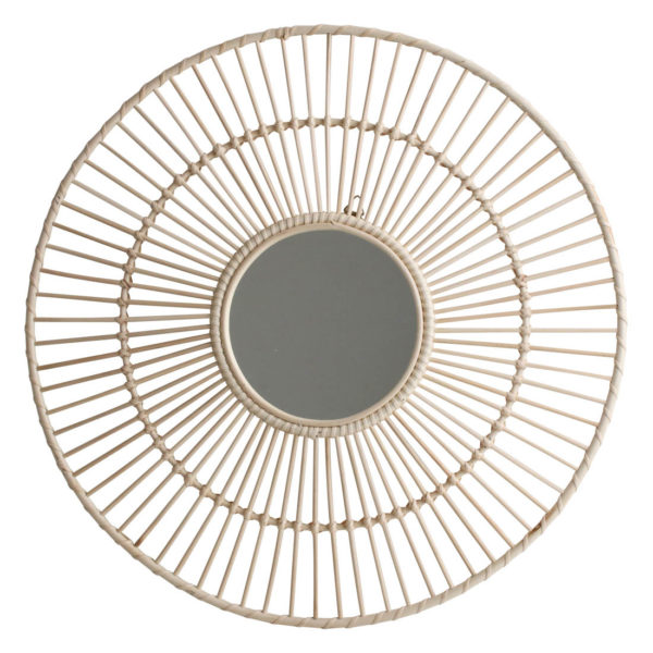 Espejo Luna - ratan - circular - one world interior - decoracion pared - Liderlamp