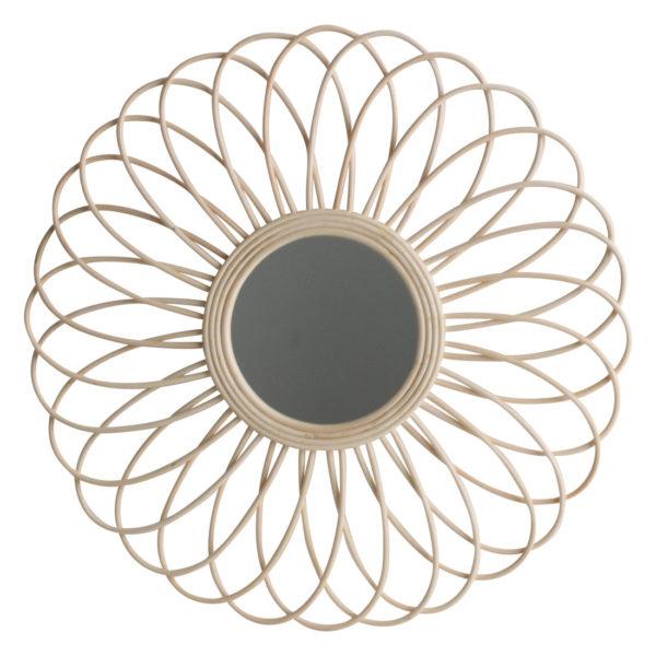 Espejo Magnolia – flor de ratan – one world interior – decoracion mural – Liderlamp