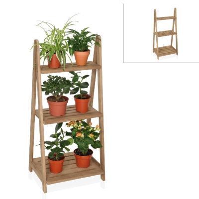 Estanteria para plantas pequena - Madera - Andrea House - Liderlamp