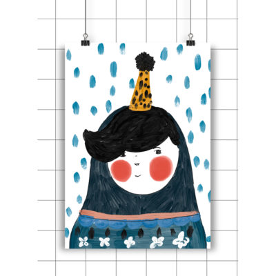 Lamina Blue Portrait - Amayadeeme - ilustracion - decoracion infantil - Liderlamp