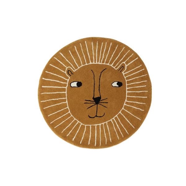 Alfombra Leon – lana y algodon – ilustrada – decoracion infantil – oyoy – Liderlamp (2)
