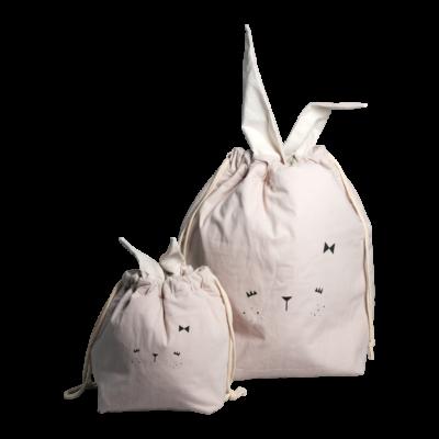 Bolsa de algodon - conejito - almacenaje infantil - Fabelab - Liderlamp (1)