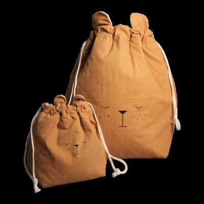 Bolsa de algodon - oso - almacenaje infantil - Fabelab - Liderlamp (1)