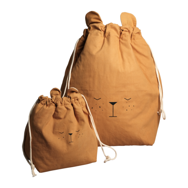 Bolsa de algodon – oso – almacenaje infantil – Fabelab – Liderlamp (1)
