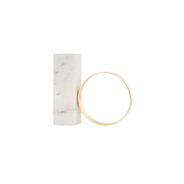 Candelabro Marmol – Oyoy – marmol blanco y metal dorado – Liderlamp