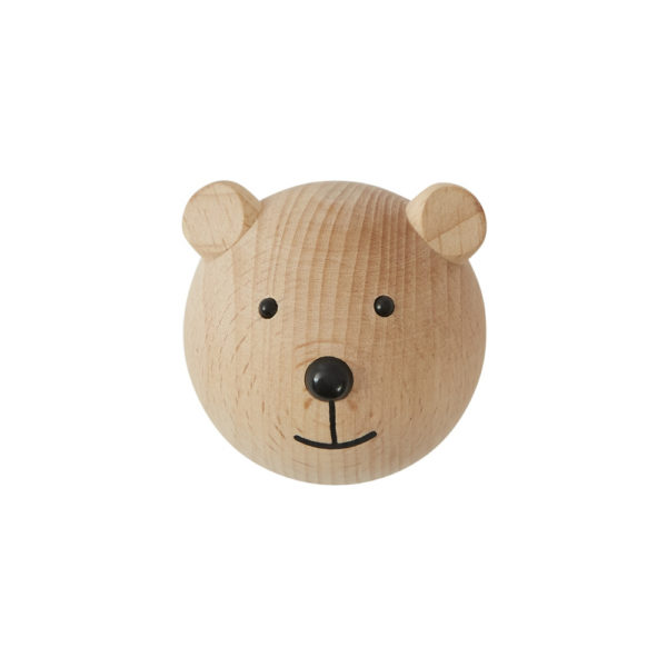 Colgador animales – oso – conejo – madera color natural – oyoy – Liderlamp (1)