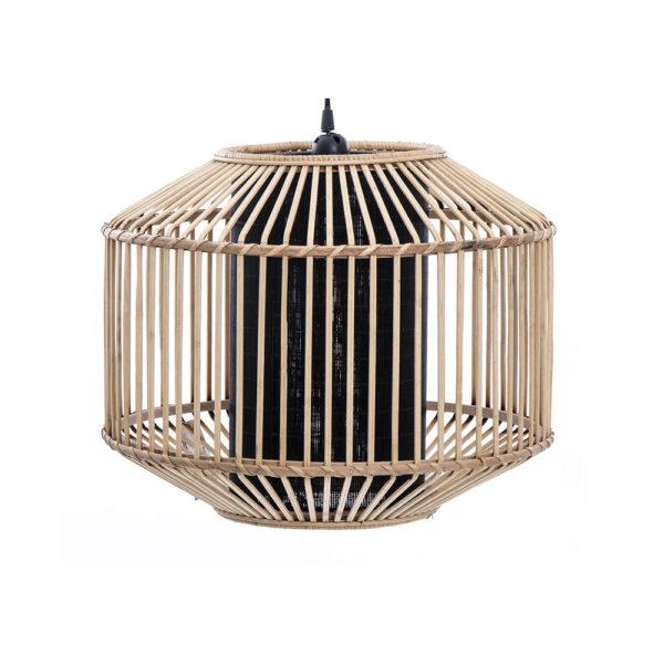 Colgante Bach – trenzado de bambu – color natural – Garpe iluminacion – Liderlamp (1)