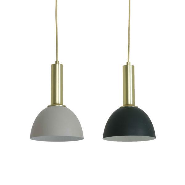Colgante Boss – lampara de techo – gris y verde – Casa Caracol – Liderlamp (1)