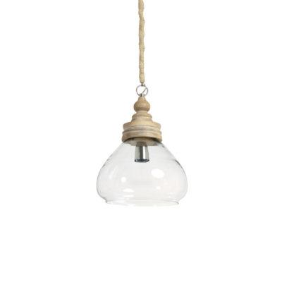 Colgante Sade - Cristal y madera - estilo nordico - ligth and living - Liderlamp