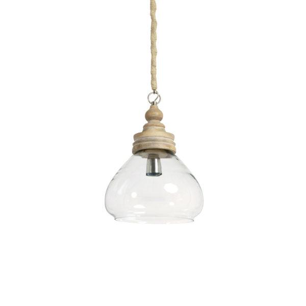 Colgante Sade – Cristal y madera – estilo nordico – ligth and living – Liderlamp