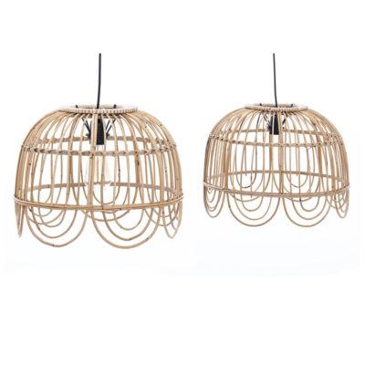 Colgante Taiwan - lampara bambu - natural chic - Garpe Iluminacion - Liderlamp