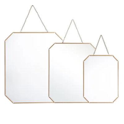 Espejo Math - Ixia - cristal y dorado - metal - interiorismo - Liderlamp (1)
